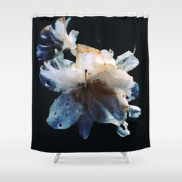 The blue death Shower Curtain