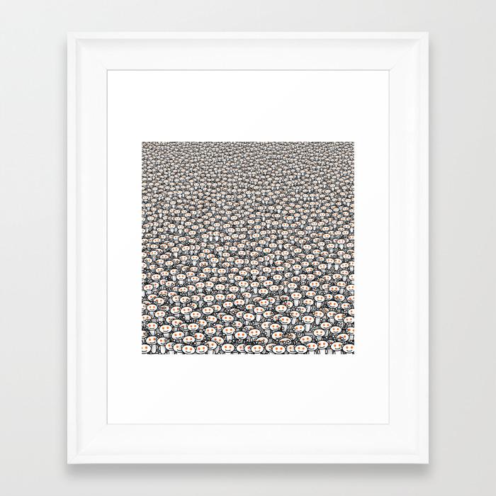 Reddit army Framed Art Print