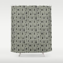 bugs and grass Shower Curtain