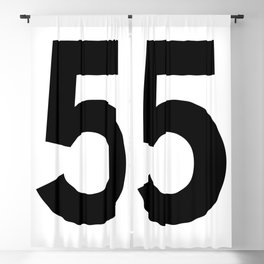 Number 5 (Black & White) Blackout Curtain