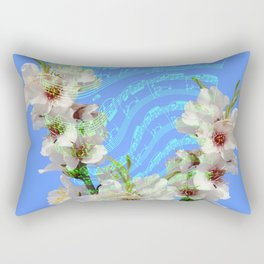 notes of works of bach on the background of flowers Rectangular Pillow