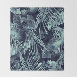Tropical Jungle Leaves Dream #9 #tropical #decor #art #society6 Throw Blanket