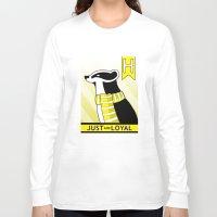hufflepuff Long Sleeve T-shirts featuring Hufflepuff Badger by makoshark