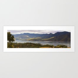 Mountain Bay Panorama Art Print