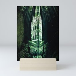 Memorial Glass Prism Engraving at Salisbury Cathedral by Rex Whistler Mini Art Print