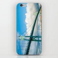 marc johns iPhone & iPod Skins featuring St. Johns Bridge by Kai Hayashi Photography