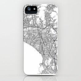 Lima Map White iPhone Case