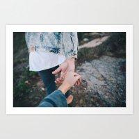 Holding Hands Art Print
