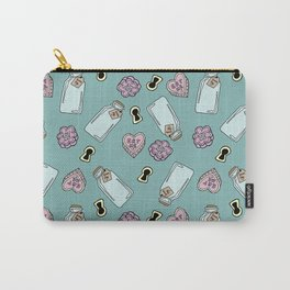 Eat Me, Drink Me - Blue Carry-All Pouch