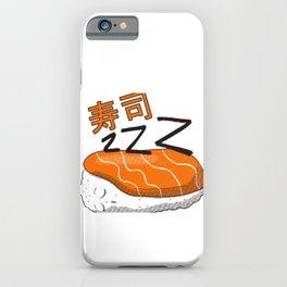 Cute sushi t-shirt sleeping nigiri with kanji iPhone Case