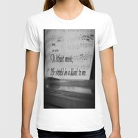 jane austen T-shirts featuring Music Jane Austen by KimberosePhotography