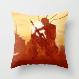Manhattan Bot Sniper Throw Pillow