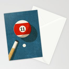 BILLIARDS / Ball 11 Stationery Cards