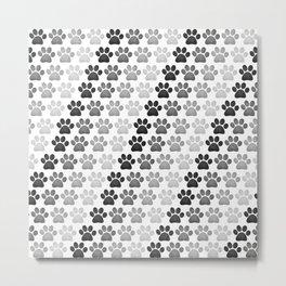 Paw Prints Pattern Metal Print