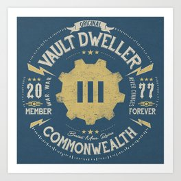 Vault 111 Member Forever Art Print