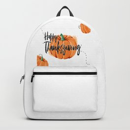 Pumpkin Happy Thanksgiving Day Backpack
