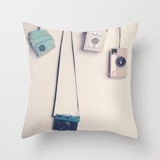 Hanging Cameras II Throw Pillow