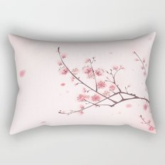Oriental style painting, cherry blossom in spring Rectangular Pillow