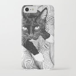 cat in black and white III iPhone Case