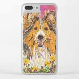 Sweet Summer Sheltie Clear iPhone Case