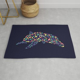Abstract Dolphin Rug