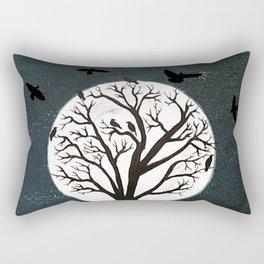 Peaceful Moon Night Gathering Rectangular Pillow
