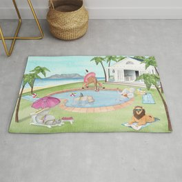 Wild Pool Party Rug