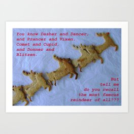 Holiday You Know Dasher and Dancer... Art Print