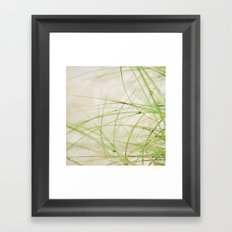 Green Wisps Framed Art Print