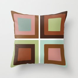 Square brown Throw Pillow