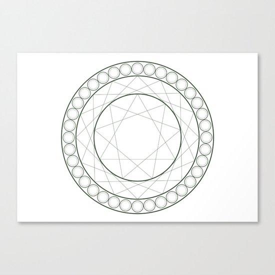 Anime Magic Circle 12 Canvas Print