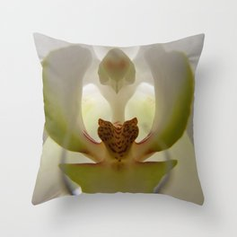 .delicate orchid. Throw Pillow