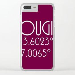 Mougins Latitude Longitude Clear iPhone Case