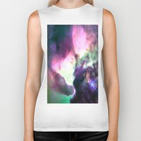 nebula Biker Tanks featuring Pastel nebULa by 2sweet4words Designs