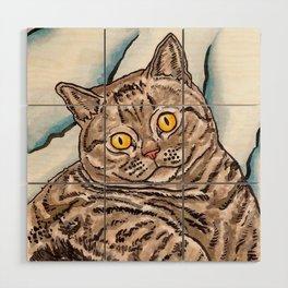 Grey Cat Wood Wall Art