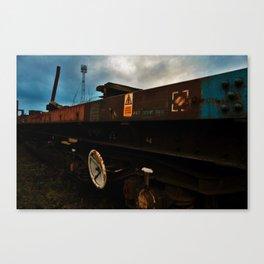 Abandoned Train in Train Yard Canvas Print