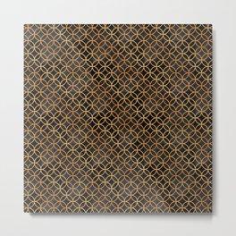 Black and Gold Seamless Pattern Metal Print