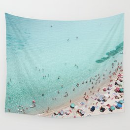 Busy Beach Wall Tapestry