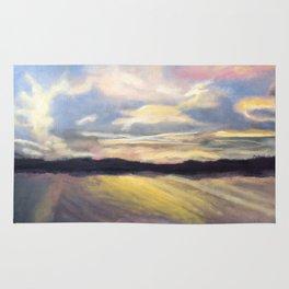Summer Sunset Over Lake Winnipesaukee in New Hampshire Rug