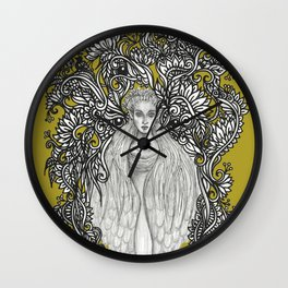 Swan Dragon Fae Wall Clock