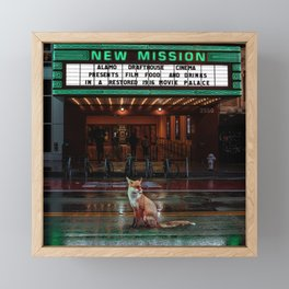 Neon City Framed Mini Art Print