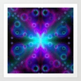 Bubbles Bokeh Effect G123 Art Print