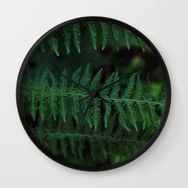 Green leaves of Christmas tree Wall Clock