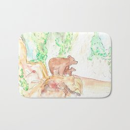 Father and daughter Bath Mat