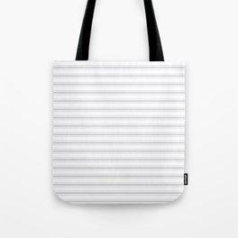 Soft Grey Mattress Ticking Wide Striped Pattern - Fall Fashion 2018 Tote Bag