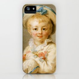 """A Boy as Pierrot"" by Jean-Honore Fragonard iPhone Case"