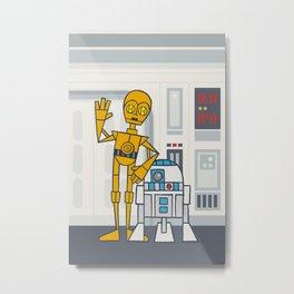 EP4 : C3PO & R2D2 Metal Print