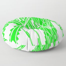 Green and white network Floor Pillow