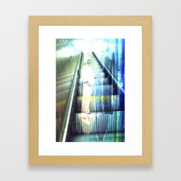 Light Escalator - Double Exposure Framed Art Print
