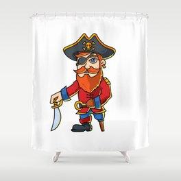 Pirate Cartoon Character Shower Curtain
